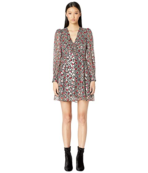 Kate Spade New York Dashing Beauty Floral Park Clip Dot Dress