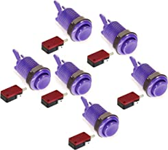 Atomic Market American Style 28mm Standard Arcade Push Button 6 Pack Purple with Microswitch