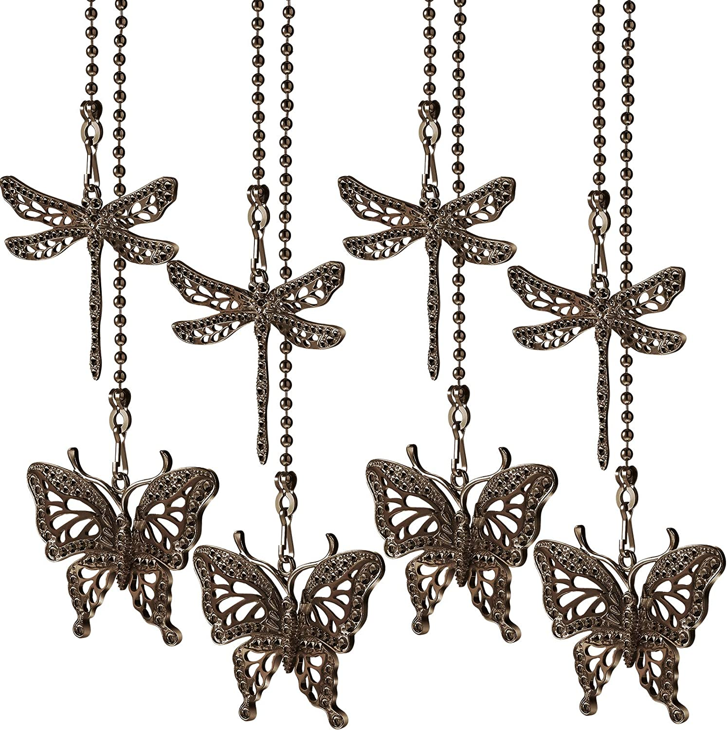 8 Pieces List price Butterfly and Dragonfly Ceiling Pendants Fan Chain Pull National uniform free shipping