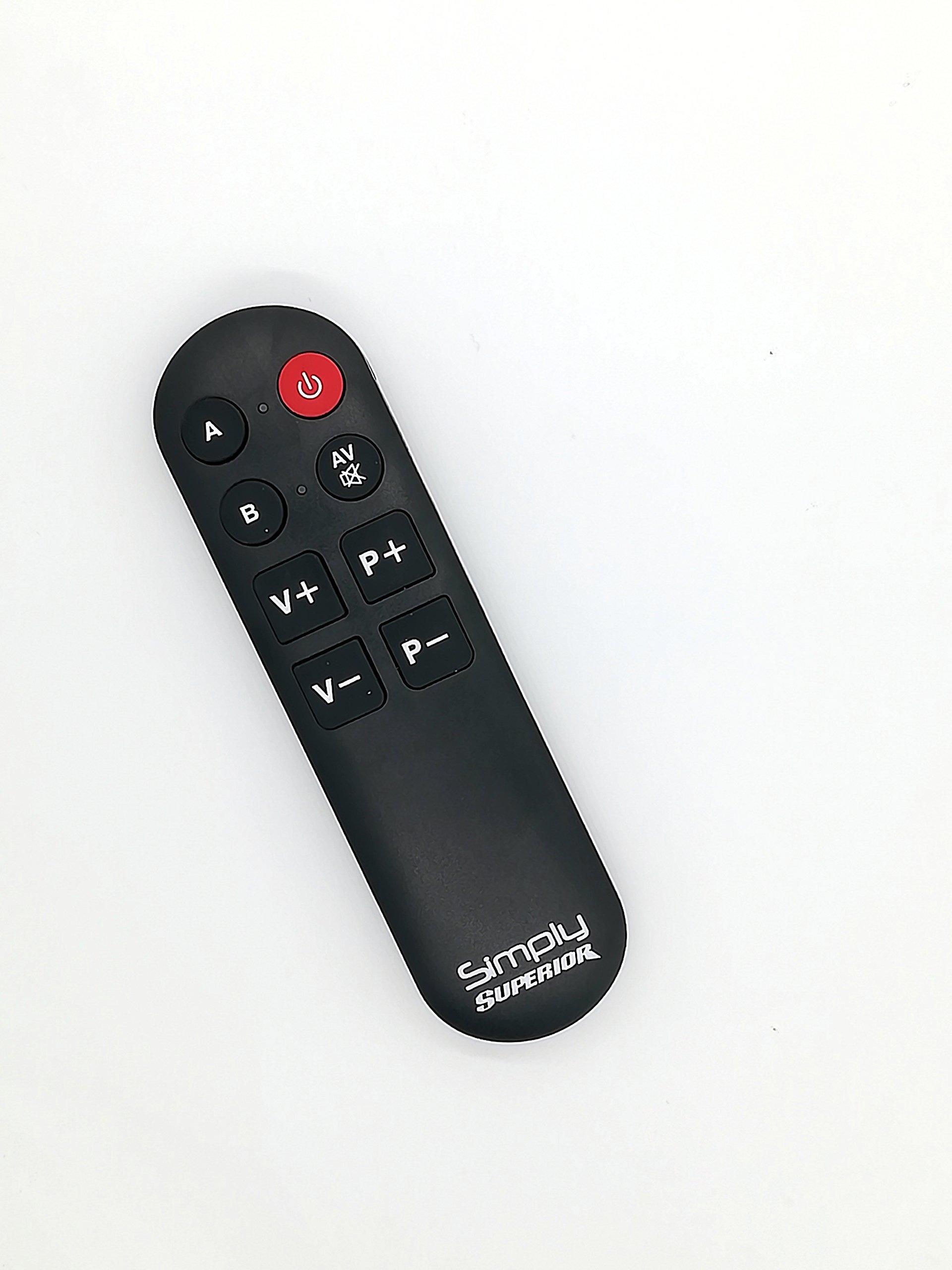 Simply - Mando a Distancia Universal con Teclas Grandes para 2 Equipos: Amazon.es: Electrónica
