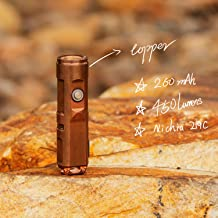 RovyVon Nichia 219C Mini-ledzaklamp, A9 koper, 450 lumen, USB oplaadbare zaklamp, EDC-tandwielen voor geschenk licht, beda...