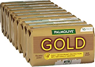 Palmolive Gold Bar Soap Daily Deodorant Protection, 10 pack x 90g