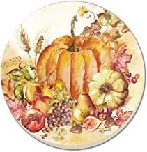 CounterArt Harvest Watercolor Absorbent Coasters, Set of 4