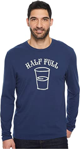 Life is Good - Half Full Arc Long Sleeve Smooth Tee