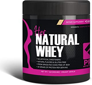 Her Natural Whey Protein Powder for Women - Supports Weight Loss & Lean Muscle Mass - Low Carb - Gluten Free - Grass Fed &...