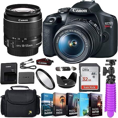 Canon EOS Rebel T7 DSLR Camera Body Renewed /+ 32GB Memory Bundle No Lens