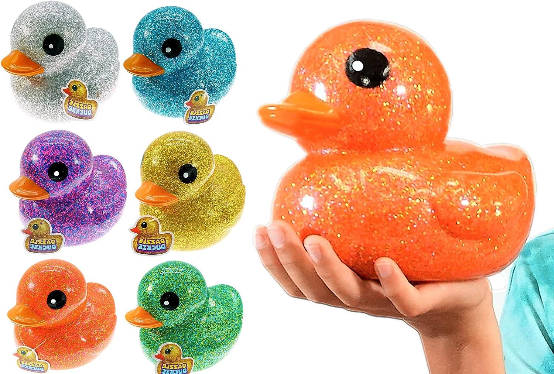 Rapid rise Giant Glitter Rubber Ducks Metallic 6 Units 7