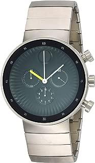 Movado Edge Black Aluminum Dial Swiss Quartz Chronograph Mens Watch 3680009