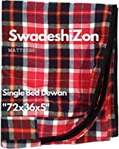 SwadeshiZon Cotton Mattress Protector / Cover with Zip / Chain ( Multicolour , 72x36x5 inches) Combo Set of 2