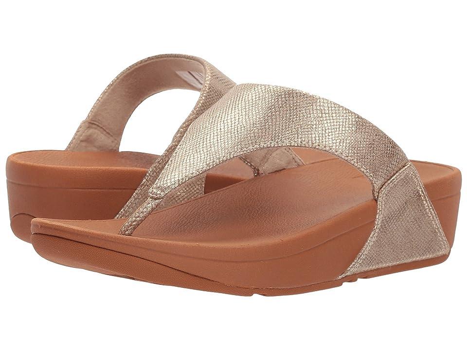 FitFlop Lulu Toe-Thong Sandal (Gold Shimmer Print) Women