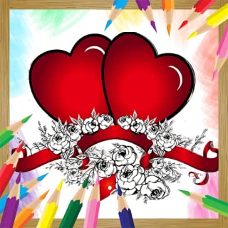 Love Coloring Book Pages with Romantic