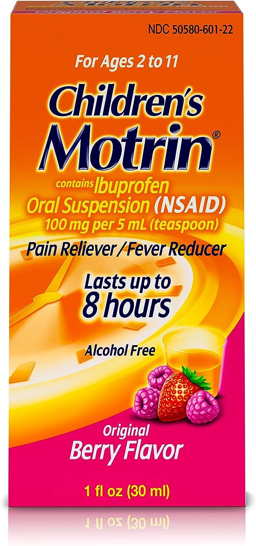Children's Motrin Oral Suspension, Pain Relief, Ibuprofen, Berry