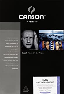 Canson Infinity Rag Photographique Smooth Matte Paper, 210gsm, 12.7mil, 13x19