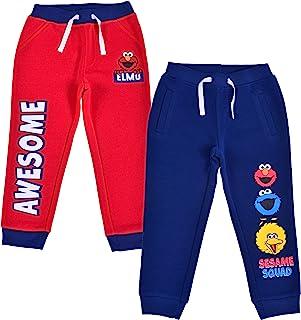 Sesame Street Boy's 2-Piece Drawstring Athletic Jogger Pants Set