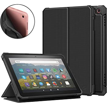 Fintie Case for All-New Fire HD 8 and Fire HD 8 Plus Tablet (10th Generation, 2020 Release) - [Flex Stand] Slim Folding Protective Cover with Soft TPU Back Shell, Auto Sleep/Wake, Black