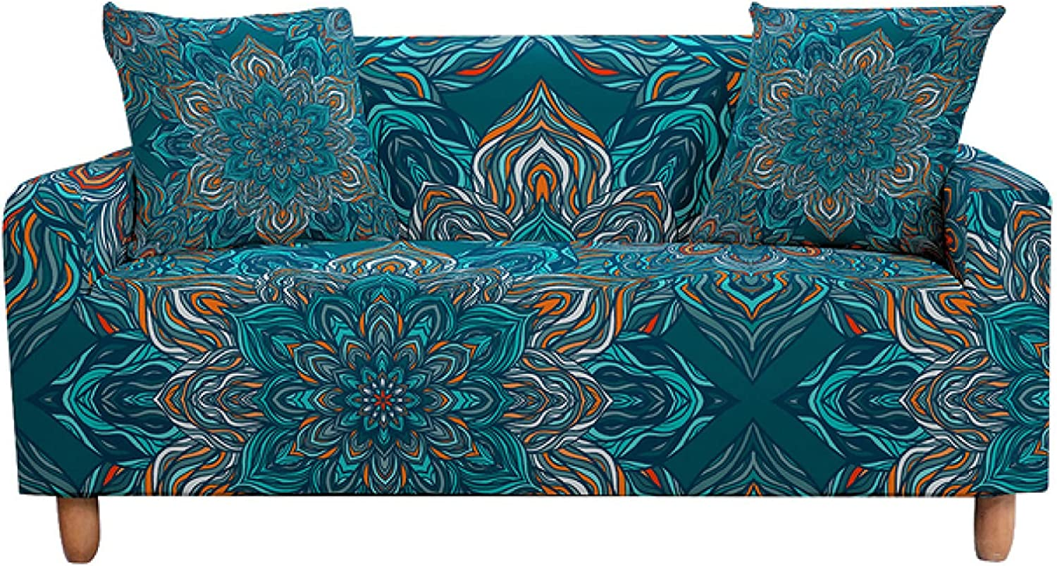 ZHOUMOLIN Al sold out. Elastic Sofa Cover for Living Stretch Sl Print Room Cheap mail order sales 3D