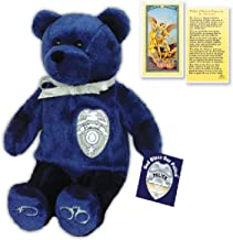 Original Holy Bears Plush Bear Police Stuffed Animal with Prayer Card and Inspirational Hang Tag Card