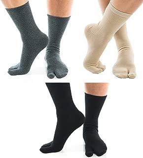 Big Toe Flip-Flop 3 Pairs V-Toe Socks Stylish Fun Casual Cotton Blend Tabi Socks