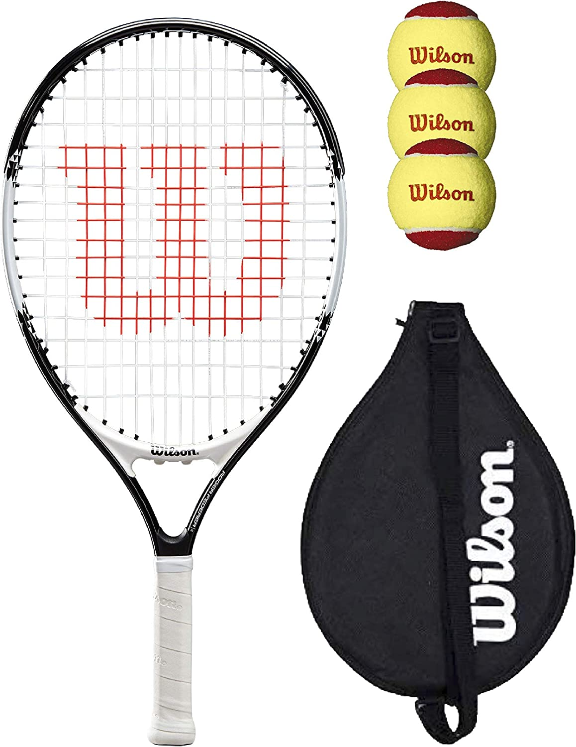 Wilson Federer 21 Junior Tennis Racket with Cover and 3 Tennis Balls Bundle Various Models Available