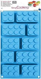 SCRAP COOKING 3160 Moule Briques, Silicone, Bleu, 32 x 17,5 x 3 cm