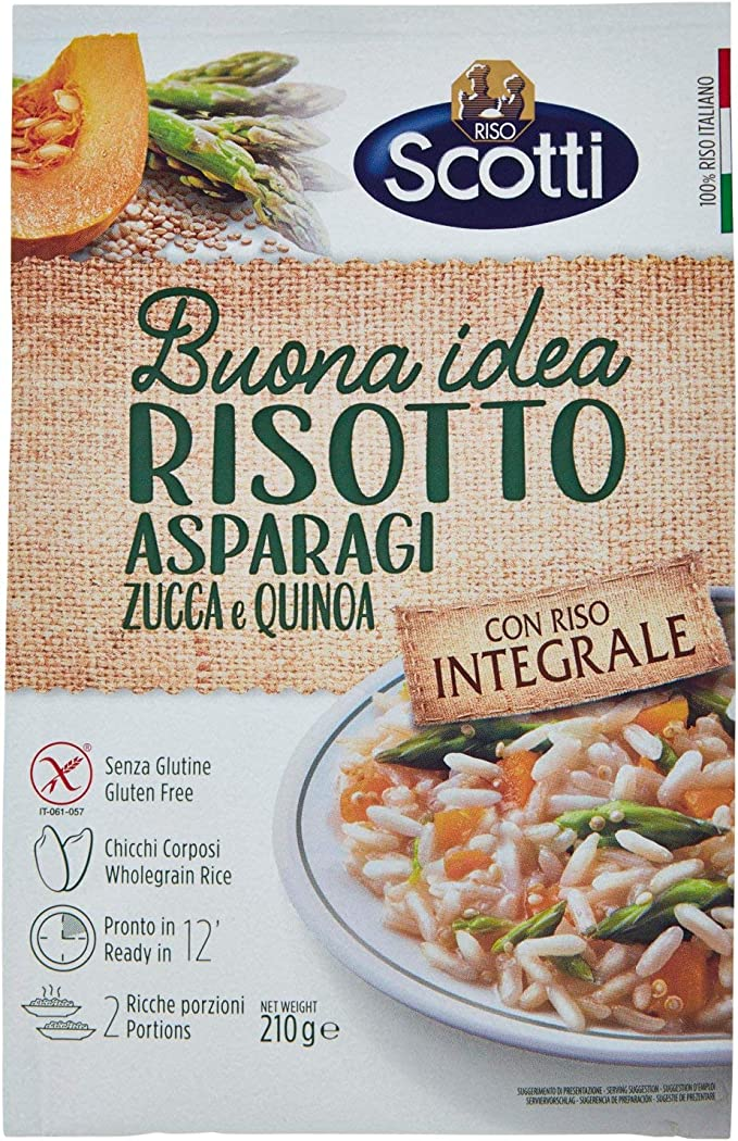 238 opinioni per Riso Scotti- Risotto Integrale Asparagi, Zucca e Quinoa- Riso Integrale Senza