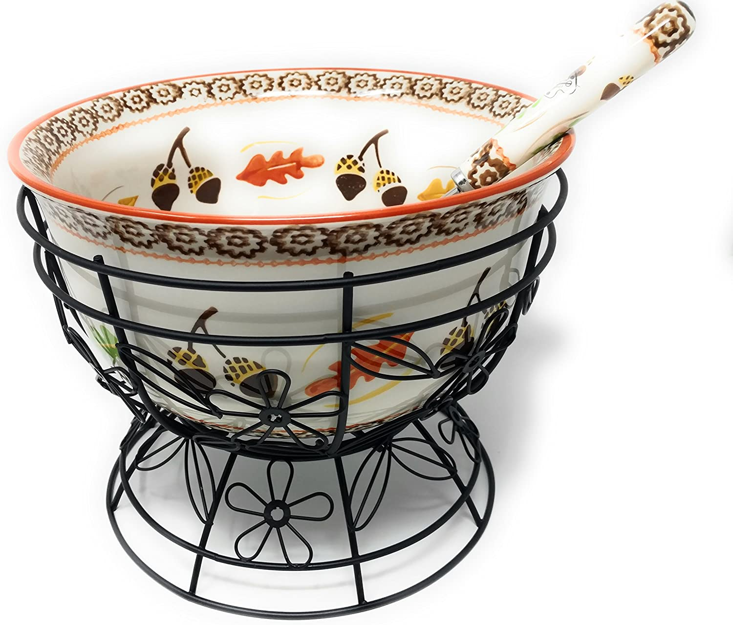 Temp-tations 4.5 qt Bowl w Soup Ladle Punch Ranking TOP18 Ranking TOP3 Wire Stand