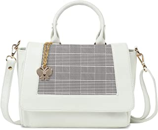 Butterflies Women Tote Bag With Adjustable Strap for Women and Girls (White) (BNS 0765WH)