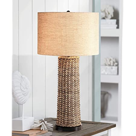 Safavieh Lit4379a Set2 Lighting Collection Boyd 26 5 Rope Brown Table Lamp