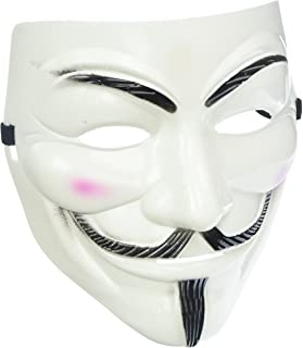 Adorox V for Vendetta White Face Mask Anonymous Guy Fawkes