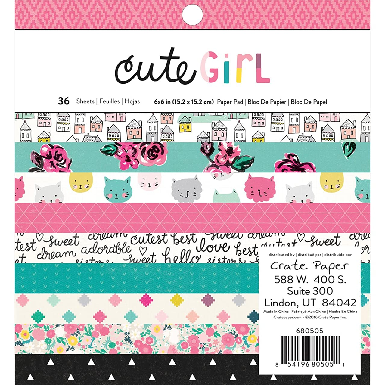 American Crafts Crate Paper Cute Girl 6 x 6