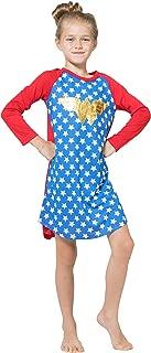 Girls' Wonder Woman Gold Foil Raglan Nightgown