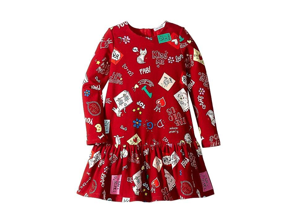 Dolce & Gabbana Kids Knit Cat Love Dress (Toddler/Little Kids) (Gatti Love Print) Girl