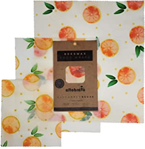 Beeswax Food Wrap - Real 100% Natural Organic Bees Wax Wraps for Sustainable Reusable Food Storage, Press n Seal by Hand, Lasts Up to One Year | S, M, L 3-Pack by altobravo