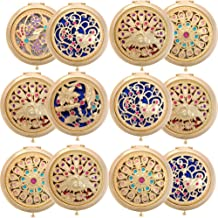 ALICE 12 Sets Gleamy Boutique Compact Mirror, Folding Mirrors With Gift Box-Golden