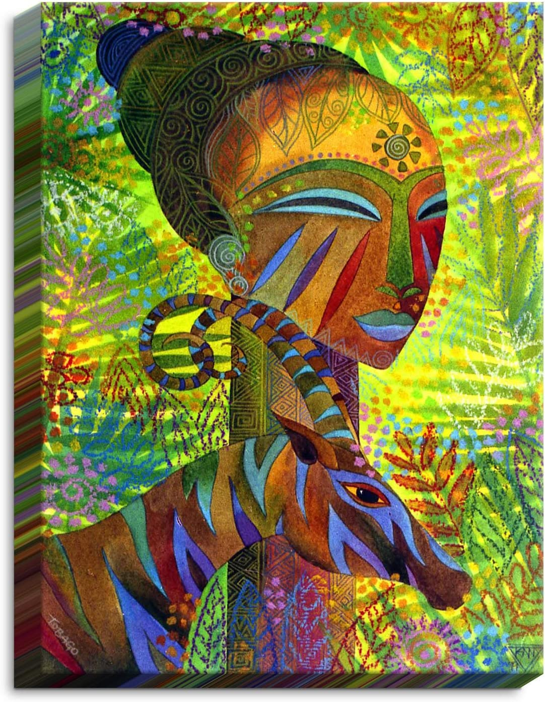 Dia Noche CAN-JenniferBairdAfricanQueens3 Canvas Art A surprise price is realized Indianapolis Mall Wall Framed
