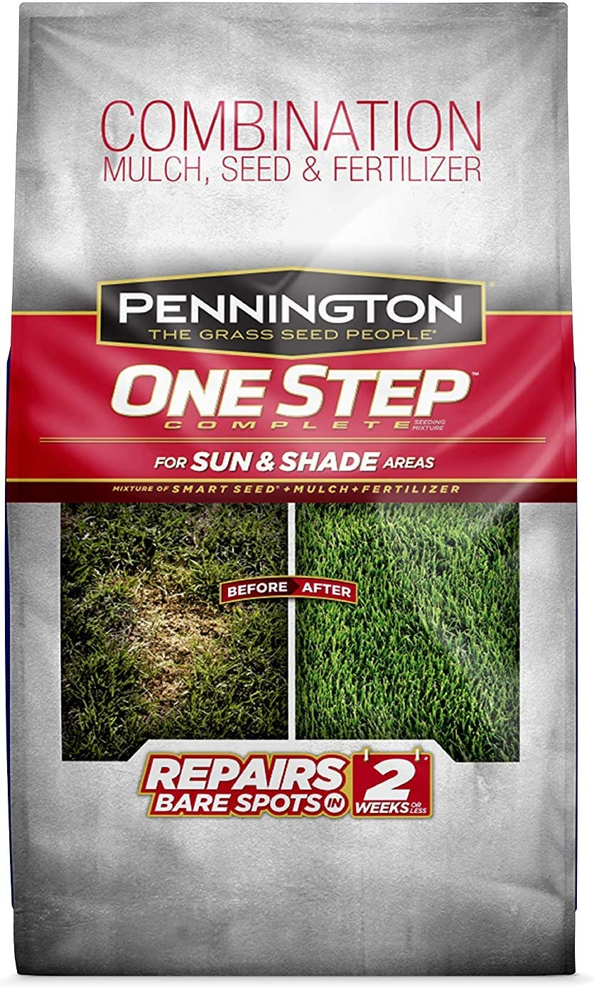Pennington One Step Complete Sun Shade Bare 1 Grass Animer and price revision Easy-to-use Seed Spot