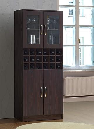 Maison Concept Wooden Cabinet, Brown - H 1760 mm x W 400 mm x D 712 mm