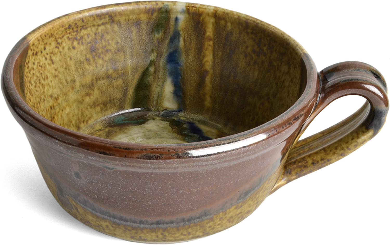 Brown//Multi Larrabee Ceramics 8.5-inch Shallow Pasta Bowl