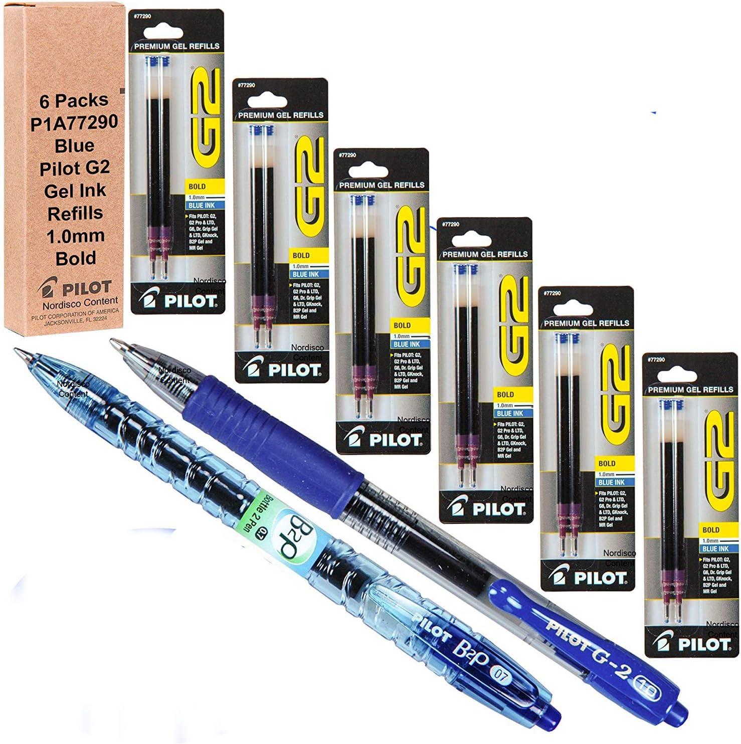 Pilot G2 Refills Blue Gel Ink Packs Sale item Bold 6 of Pt 1.0mm Max 83% OFF
