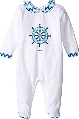 Jersey Zigzag Wheel One-Piece (Infant)