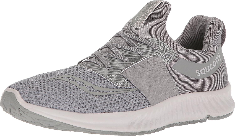Saucony Men's Stretch N Go Breeze Running shoes, Grey, 7 Medium US