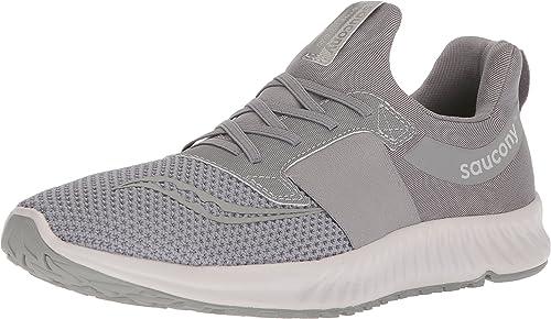Saucony Hommes's Stretch N Go Breeze FonctionneHommest chaussures, gris, 14 Medium US