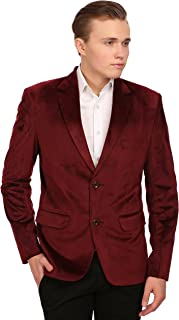 Men's Velvet Grandad Collar Ceremony Blazer - Seven Colors…