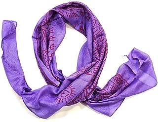 Om Aum Symbol Meditation Prayer Scarf Shawl Yoga Summer Hippie Cotton Print Head Wrap Indian India