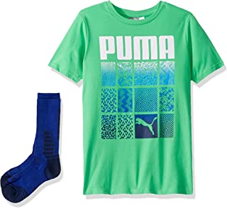 PUMA Big Boys' 2-Piece Graphic Tee and Sock