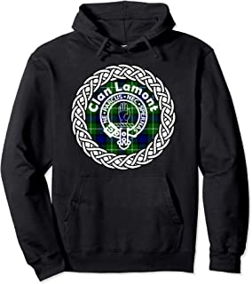 Lamont surname Scottish clan tartan crest badge hoodie