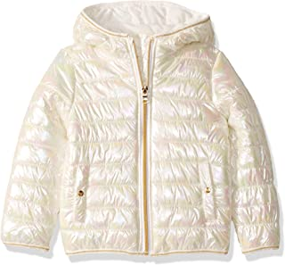 Girls' Warm Winter Coat with Asymetrical Closure