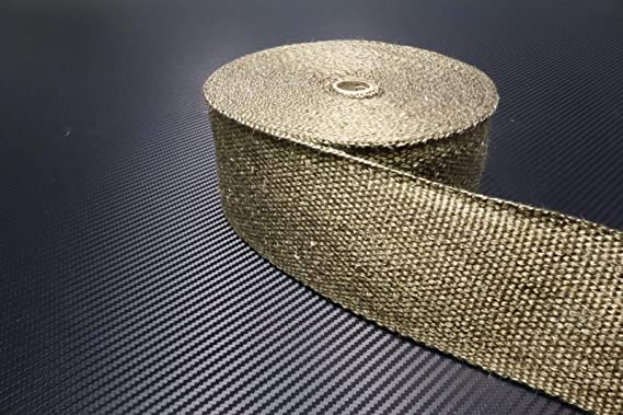 Schlauchland 20m Titan Hitzeschutzband Breit 75mm 1400 C Auspuffband Thermoband Krümmerband Heat Wrap Basaltfaser Isolierband Garten