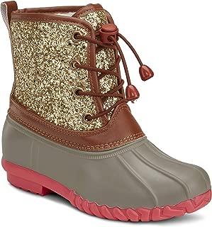 pink glitter duck boots