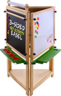 Sponsored Ad - U.S. Art Supply Children`s 3-Sided Art Activity Easel with Chalkboard, Large Paper Roll, Shelf & Plastic Pa...